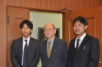 加計副学長と鈴木先生と加計総合企画局長