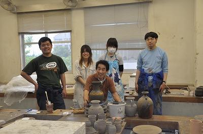 陶芸実習Ⅱを受講している学生さん