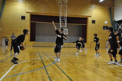 女子バスケットボール部練習