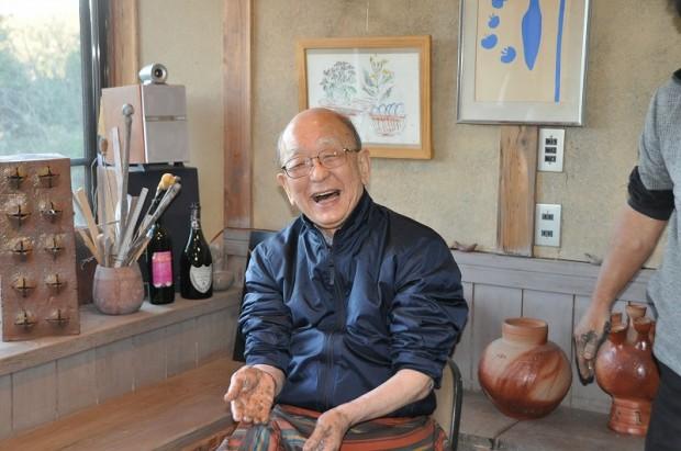 笑顔の鈴木章先生