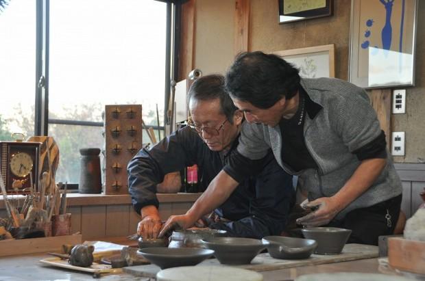萬代先生も陶芸体験