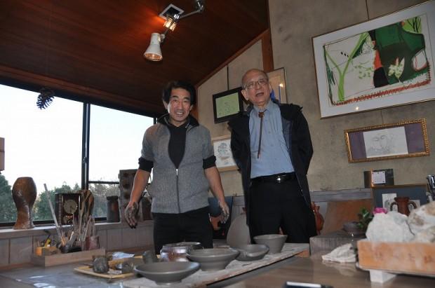 岡田先生と鈴木章先生
