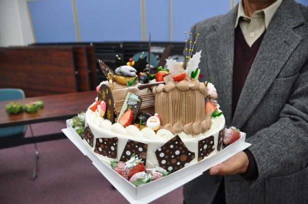 ヘルスピア倉敷特性クリスマスケーキ