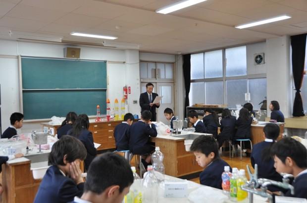 倉敷市立本荘小学校への出張講義