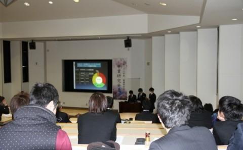 平成23年度 健康科学科卒業研究発表会について