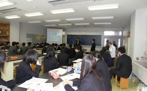 如水館高等学校への出張講義についてvol.1