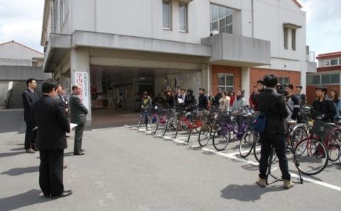 平成24年度自転車受贈式が開催されました。