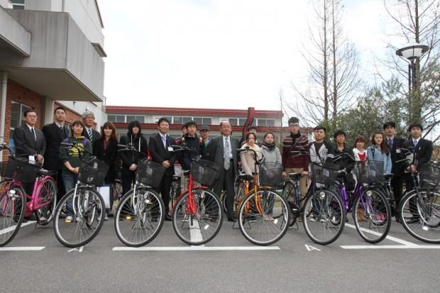 留学生の皆さんと自転車