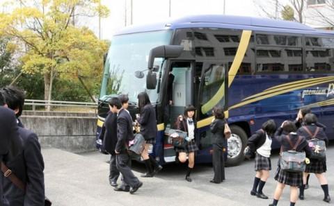 岡山県美作高等学校の来校について