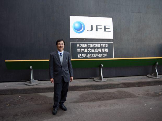 JFE世界最大級広幅厚板前 塩飽直紀先生