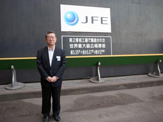 JFE世界最大級広幅厚板前 岡野喜良先生