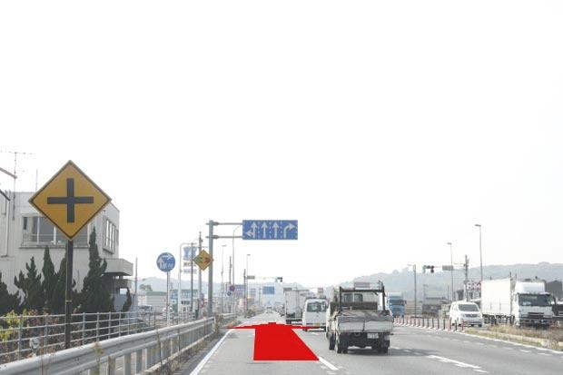 国道2号線バイパス(西田付近)