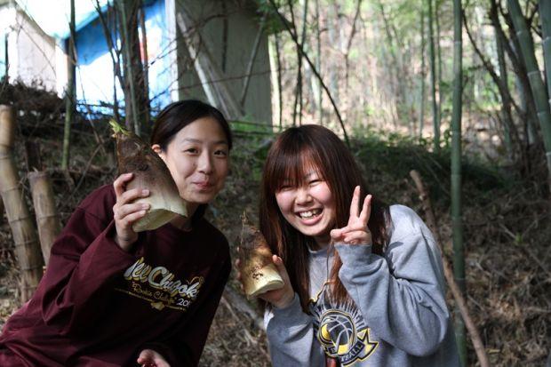 筍を採った女学生