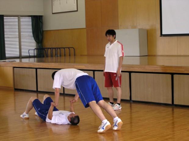 体幹トレーニング中
