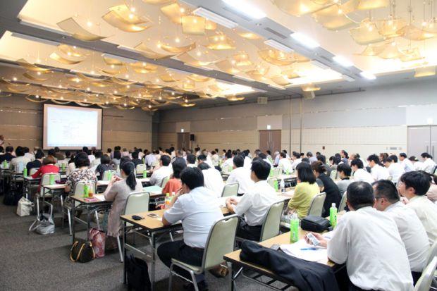 倉敷芸術科学大学改革全体集会の様子