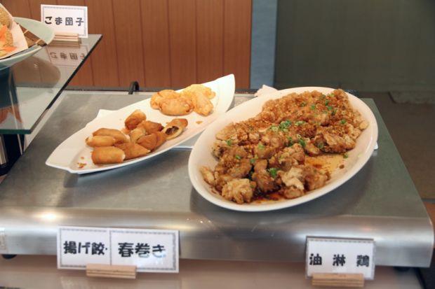 揚げ餃子・春巻き、油淋鶏