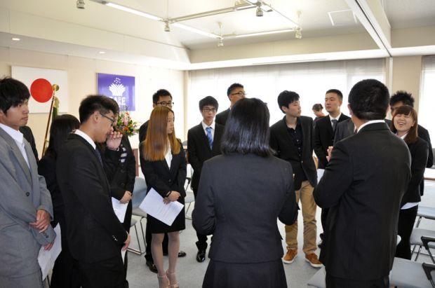 留学生別科入学宣誓式