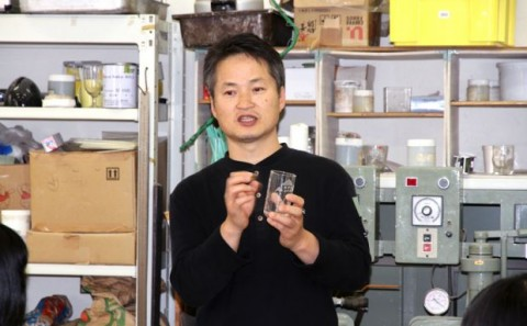 岡山県立総社南高等学校のガラス実習について