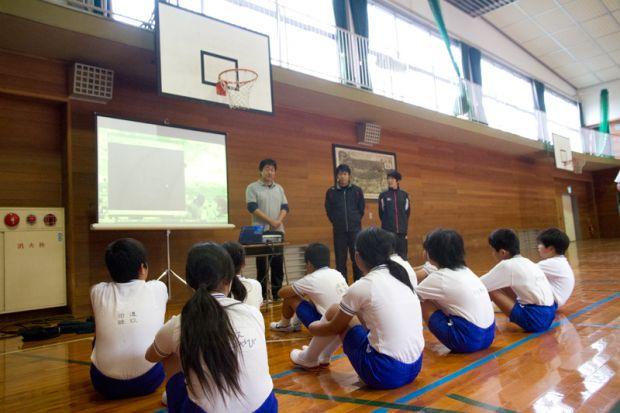 倉敷市立連島北小学校への出張講義