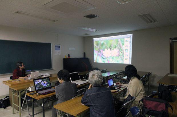 写真の加工及び保存方法の講義