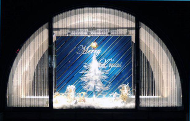 天満屋倉敷店クリスマスライトアップ