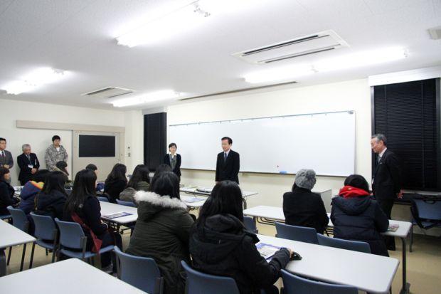 倉敷芸術科学大学を訪れた全南女子商業高校の皆様