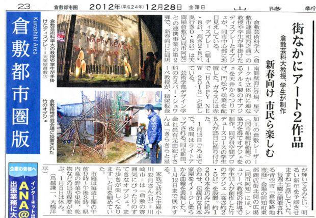 山陽新聞倉敷都市圏版記事