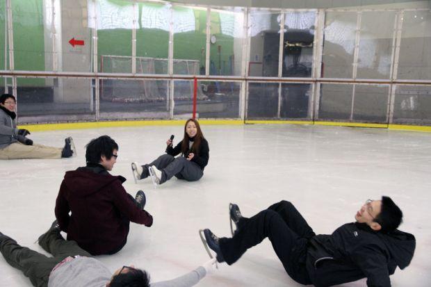 転び方の練習