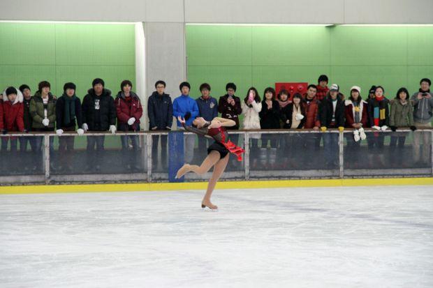 壬生川さんスケートデモンストレーション