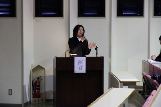 生命動物科学科4年次生 行徳 亜衣 さん