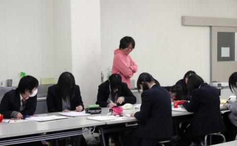 岡山理科大学附属高等学校アニメ・デザインコースの学内実習について