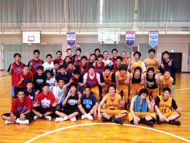 春合宿中の男子バスケットボール部
