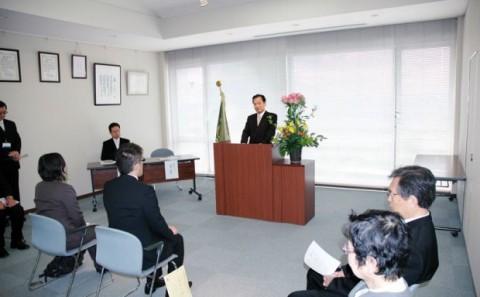 平成25年度大学院(通信制)入学宣誓式について