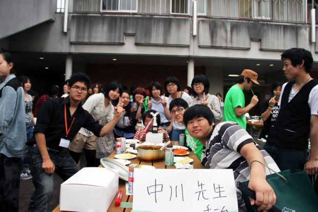 中川研究室の学生さんとカレー