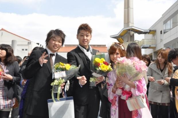 卒業記念撮影