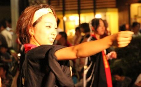 学生が倉敷天領夏祭り OH!代官ばやし踊りに参加しました。