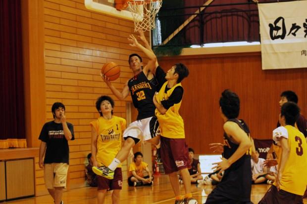 バスケットボール(ゴール下の攻防)