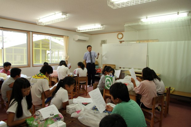 倉敷市立西小学校児童クラブへの出張講義