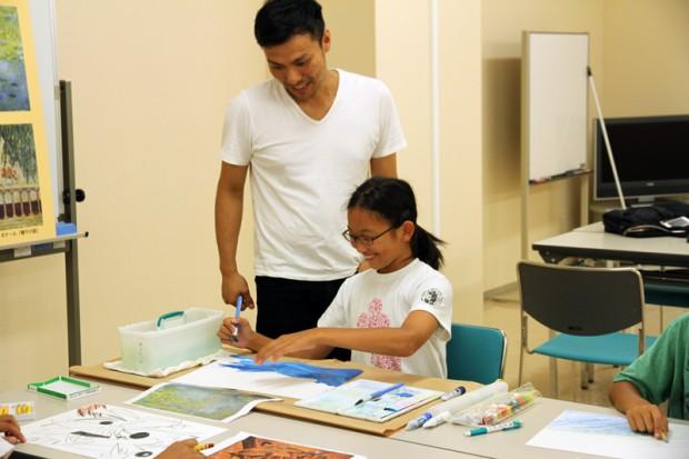 川上先生と小学生