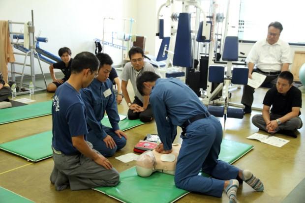救急救命訓練の様子