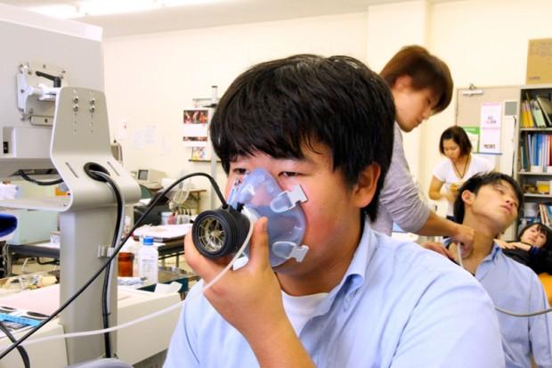 呼気ガス代謝の測定