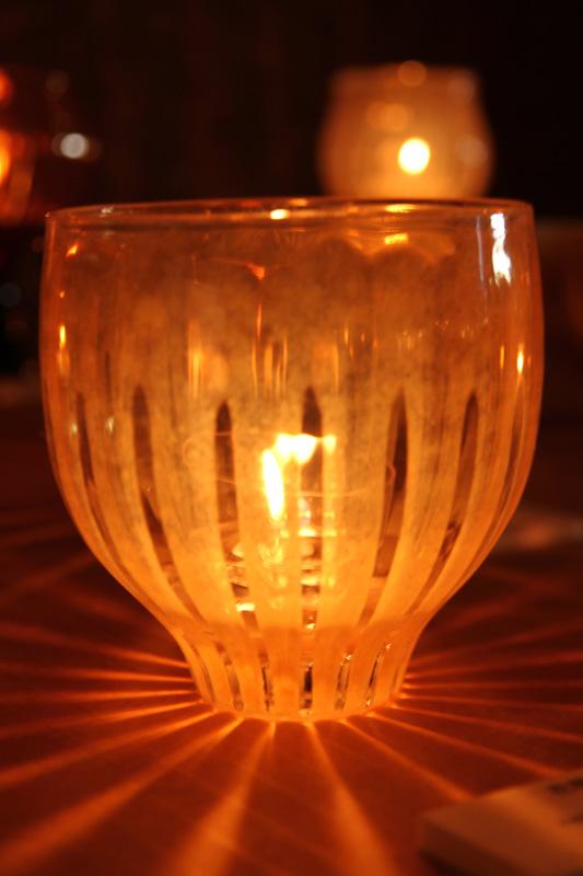 光が印象的なキャンドル