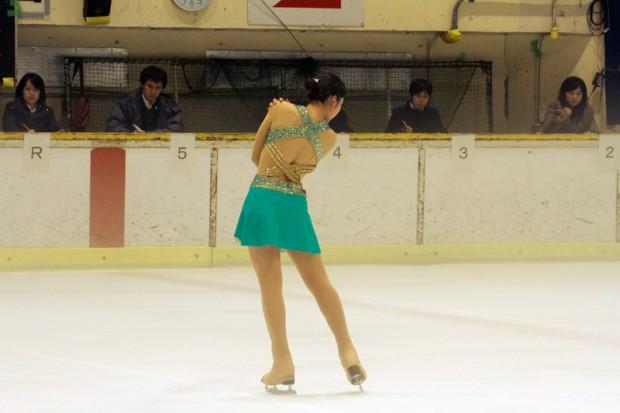 フィギュアスケート部:壬生川真優さんポーズ