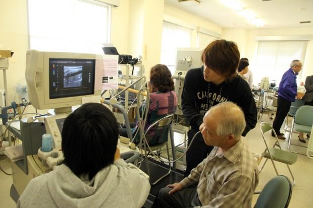 頸動脈腔及び血流速度の測定