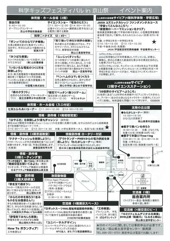 科学キッズフェスティバル(裏)