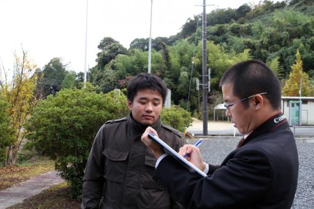 山陽新聞社の取材