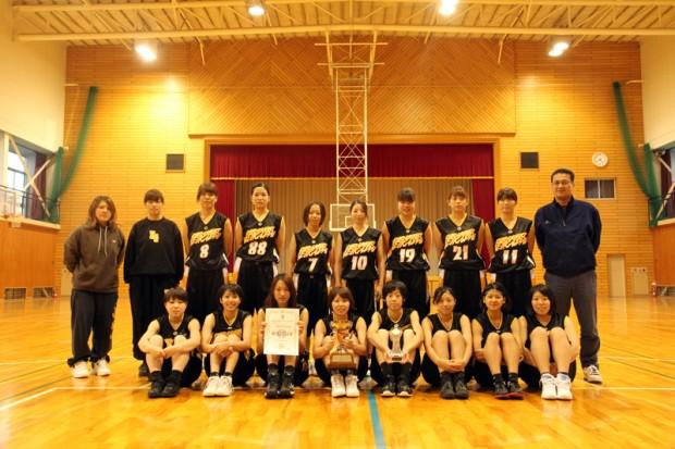 女子バスケットボール部集合写真