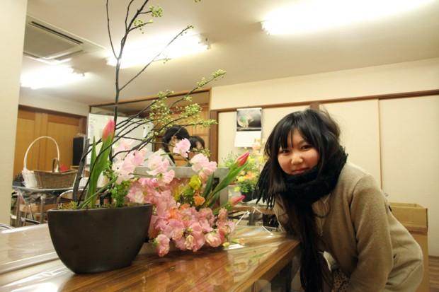 西川依利さんのフラワーアレンジメント完成!