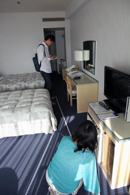 客室を測る