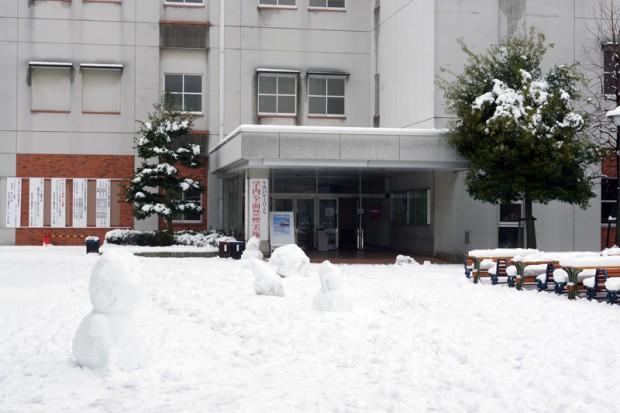 複数の雪だるま